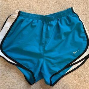 Teal Dri-Fit Nike Tempo Shorts